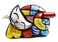 sleeping cat by romero britto