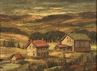 the artist's farmhouse - a buck's county view by fred william weber
