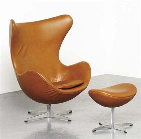 Merveilleux Egg Chair And Ottoman, Model No. 3316 By Arne Jacobsen