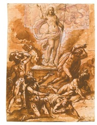 the resurrection (recto-verso) by giovanni dei vecchi
