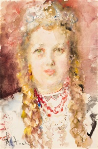 portrait of r. khrushcheva as snow maiden by artur v. fonvisin