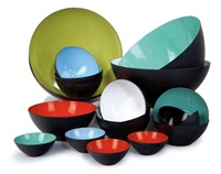 krenit bowls (22 works) by herbert krenchel