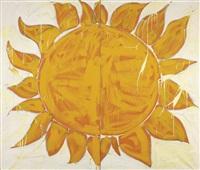 o sole mio (diptych) by mario schifano
