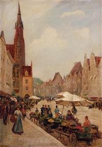 markt in augsburg by richard lipps
