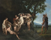 actaeon surprising diana and her nymphs by francesco albani