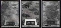father - mother - son - the graves # 43 (triptych) by sophie calle