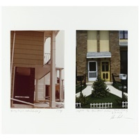 housing project, staten island, n.y. (+ two home house, entrance, staten island, n.y; 2 works) by dan graham