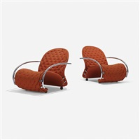 1-2-3 system lounge chairs model g, pair by verner panton
