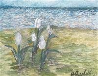 tulips by a river by vladimir yakovlev