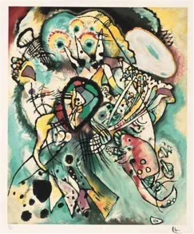 picture with points by wassily kandinsky
