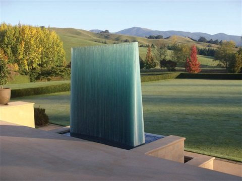 curved waterwall by de wain valentine