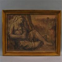 reclining female figure by roberto azzoni