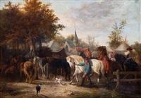 foire annuelle avec marché aux chevaux by joseph jodocus moerenhout