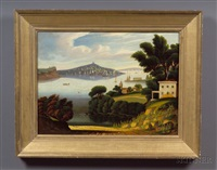 view of new york bay from brooklyn heights by thomas chambers