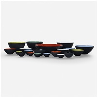 collection of twenty krenit bowls by herbert krenchel