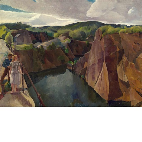 abandoned quarry gloucester by leon kroll