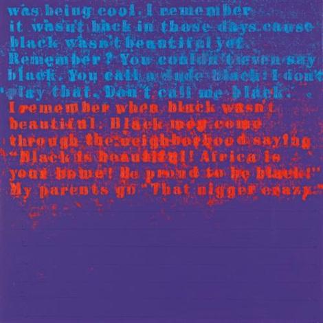 when black wasnt beautiful 1 by glenn ligon