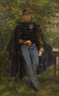 capitaine dans un jardin by leon eugene august abry