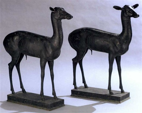deer another similar pair by sabatino de angelis