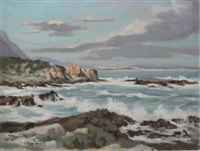 seascape near hermanus by george william pilkington