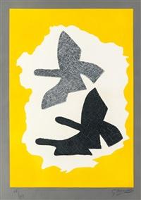 les trois oiseaux en vol by georges braque