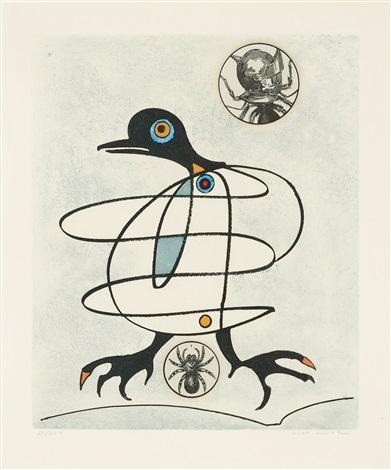 utan titel, ur: oiseaux en peril by max ernst