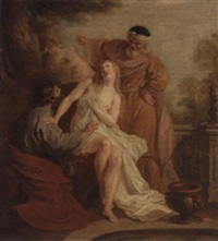 susanna and the elders by françois (le moine) le moyne