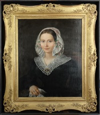 portrait de dame de qualité by innocent louis goubaud