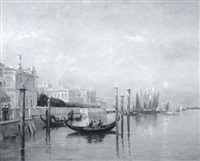 venetian canal, morning by george frank higgins
