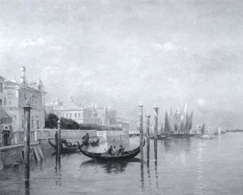 venetian canal morning by george frank higgins