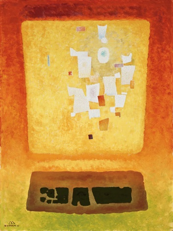 untitled abstract composition by emil james bisttram