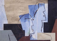 deux figures by louis marcoussis