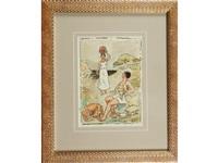 le chasseur et la porteuse d'eau (+ femme et son bébé à la cueillette des pommes; 2 works) by paul-emile colin