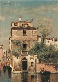 venetian canal scene by henry pember smith