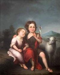 niño jesús y san juanito by francisco meneses osorio