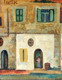 a house in the doorway by arie alweil