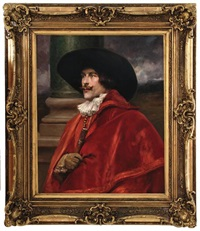 portrait of cavalier in red by alex de andreis
