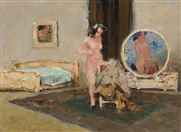 naakt interieur (interior with nude) by gerard adolfs