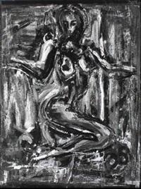 kniender weiblicher akt by markus tollmann