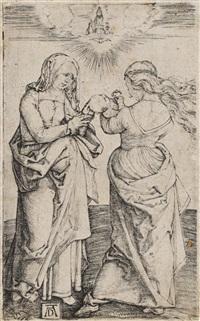 die heilige anna und maria mit dem kinde stehend by albrecht dürer
