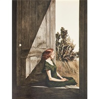 ten color reproductions of paintings by andrew wyeth by andrew wyeth