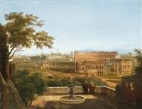 blick von den horti farnesiani auf das kolosseum by anonymous-italian (19)