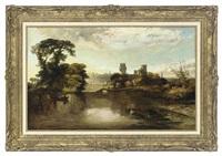 warwick castle by james vivien de fleury