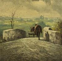 paesaggio con cavalli by ferruccio rontini