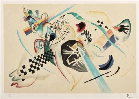 on white 1 by wassily kandinsky