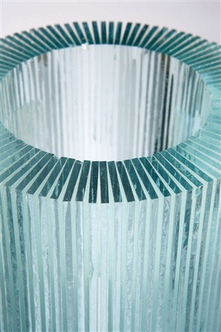 cylindrical column laminated glass by de wain valentine