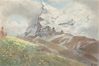 the eiger from the wengern alp, switzerland by harry goodwin
