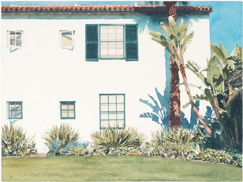 santa barbara garden by robert bechtle