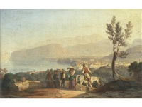 the bay of sorrento by carl (karl) wilhelm götzloff