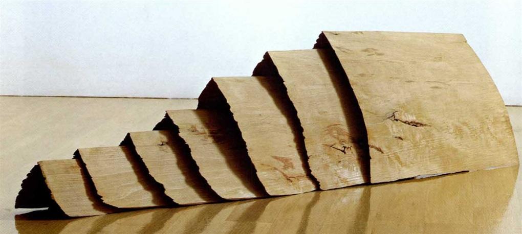 Seven beech wafers in 7 parts by David Nash on artnet
